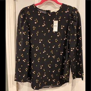 NWT Loft tiny flower print blouse